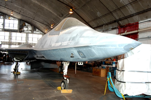 DAYTON, Ohio (02/2007) -- Northrop-McDonnell Douglas YF-23 in the restoration area of the National Museum of the U.S. Air Force. (U.S. Air Force photo by Ben Strasser)