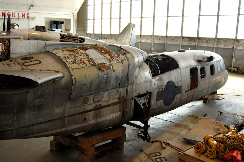 DAYTON, Ohio (02/2007) - The Curtiss-Wright X-19 undergoing restoration at the National Museum of the U.S. Air Force. (U.S. Air Force photo by Ben Strasser)