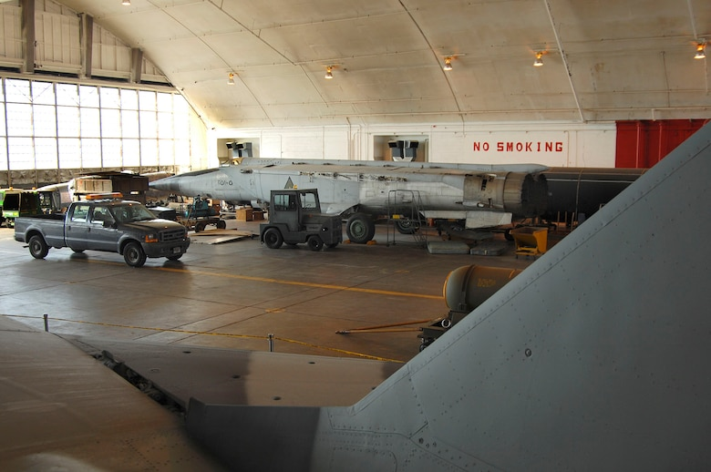 DAYTON, Ohio (02/2007) -- Wide shot of the MiG-25 in the restoration area at the National Museum of the U.S. Air Force. (U.S. Air Force photo by Ben Strasser)