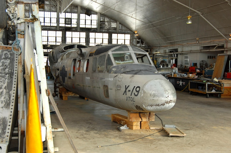 DAYTON, Ohio (02/2007) - The Curtiss-Wright X-19 in the restoration area of the National Museum of the U.S. Air Force. (U.S. Air Force photo by Ben Strasser)
