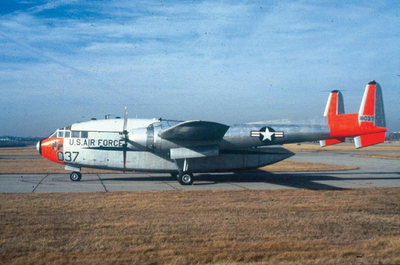 DAYTON, Ohio -- Fairchild C-119J Flying Boxcar at the National Museum of the United States Air Force. (U.S. Air Force photo)