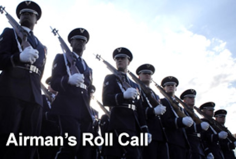 The Airman's Roll Call is a one-page print product, posted online every Wednesday, written so supervisors can read it to their Airmen during morning roll calls or weekly gatherings. (U.S. Air Force graphic/Mike Carabajal)