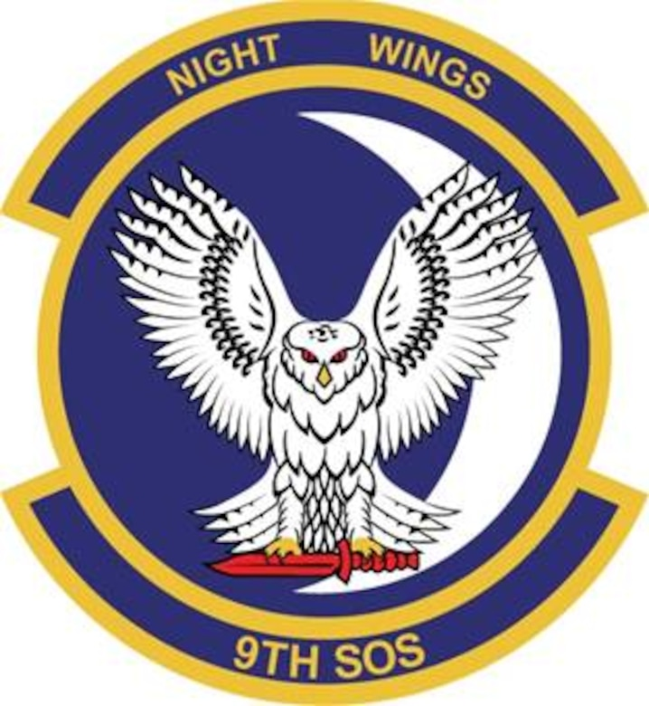 9th Special Operations Squadron emblem significance: The blue of the disc, the crescent moon, and the night sky represent the unit's primary theater of operations.
