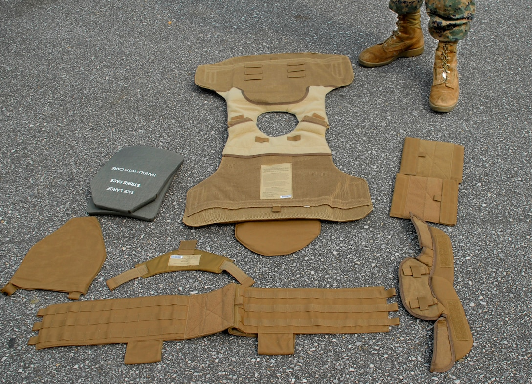 The Modular Tactical Vest comes with several components that Marines have to carefully configure and maintain.(Official U.S. Marine Corps photo by Sgt. Ethan E. Rocke)(Released)