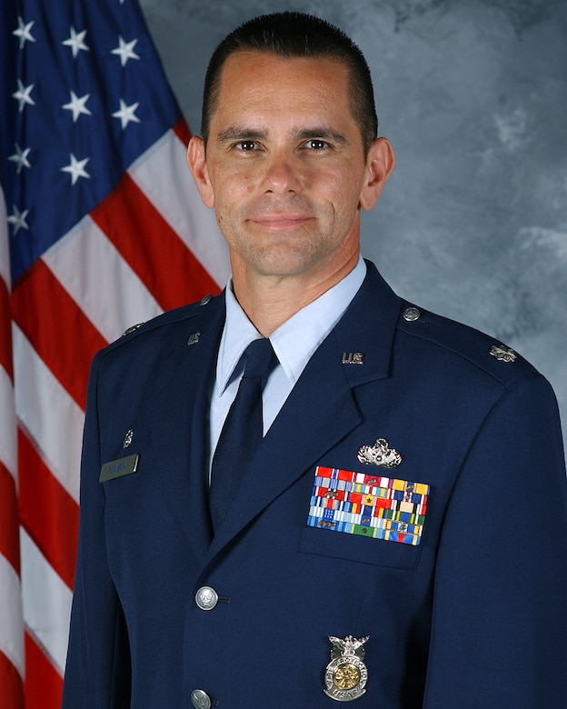 Lt. Col. Patrick Fogarty, 99th Civil Engineer Squadron Commander.