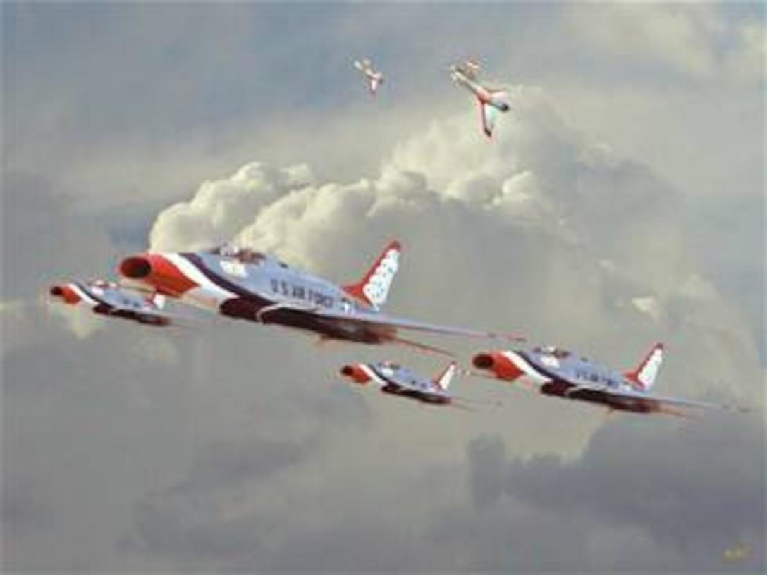 F-100 Thunderbird 6-ship