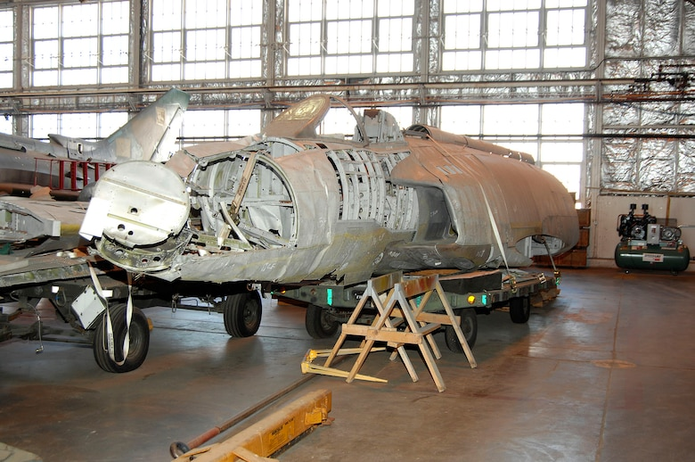 DAYTON, Ohio (02/2007) -- The Lockheed XF-90 awaits restoration at the National Museum of the U.S. Air Force. (U.S. Air Force photo)