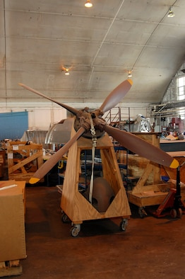 DAYTON, Ohio (02/2007) -- Propeller for the Japanese George in restoration at the National Museum of the U.S. Air Force. (U.S. Air Force photo)