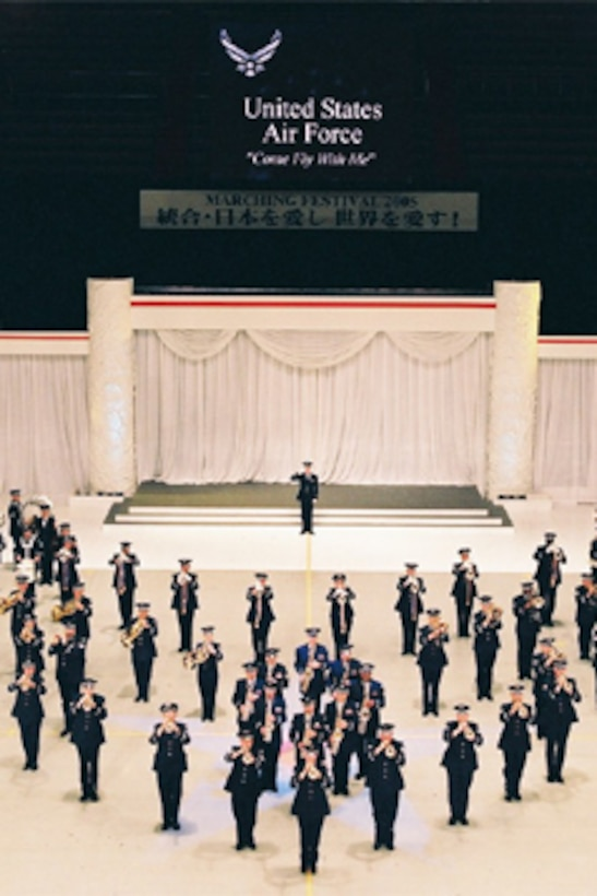 Air Force Band of the West performs at Budokan