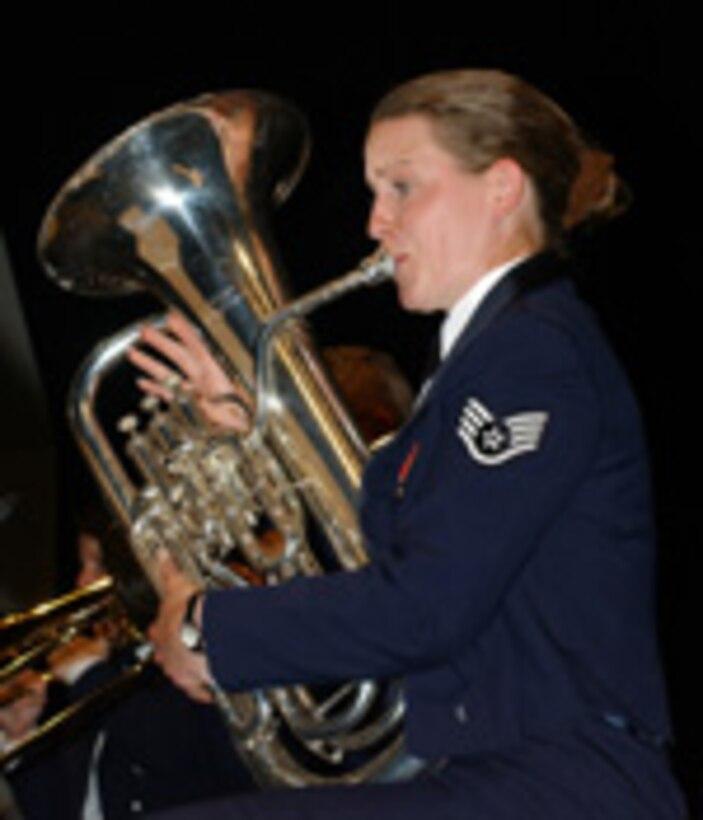 Image of Air Force euphonium player