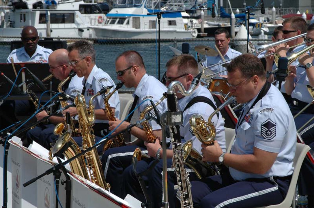 USAF Band of the Golden West in Marina del Rey, California