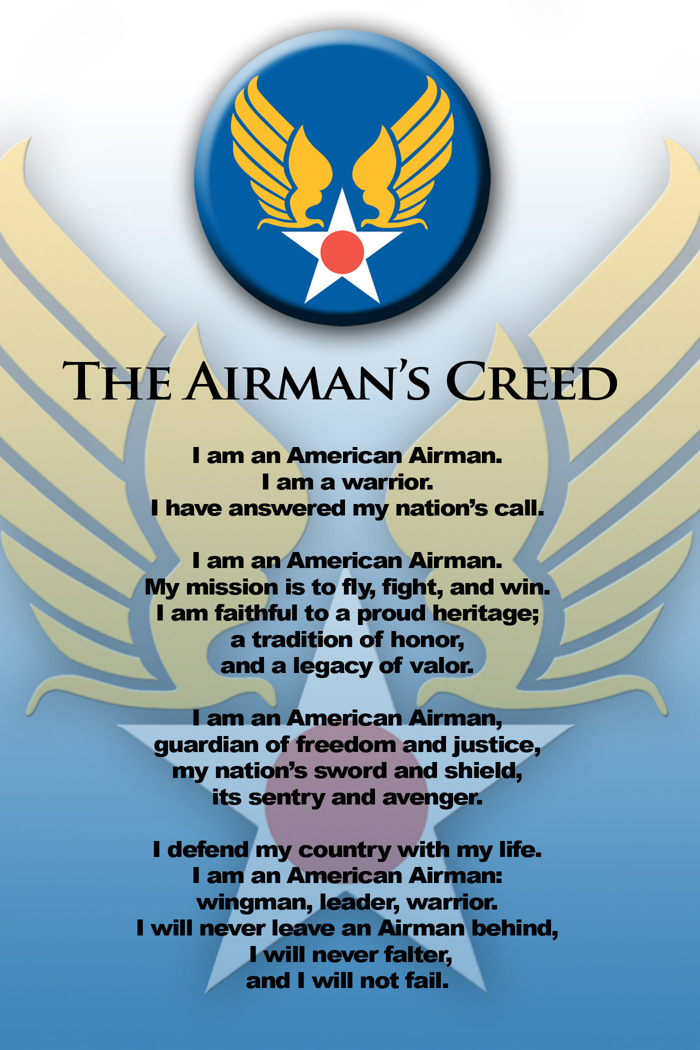 Airmans creed 512th airlift wing article display airmans creed thecheapjerseys Images