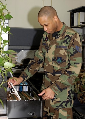 Staff Sergeant Kamau Joseph, non-commissioned officer in charge of TRICARE, 8th Medical Support Squadron, was awarded a Pride of the Pack certificate May 3 for his stellar commitment to excellence and superior mission accomplishment. The certificates are awarded weekly to the Wolf Pack's top performers. (U.S. Air Force photo by Staff Sgt. Darcie Ibidapo.)
