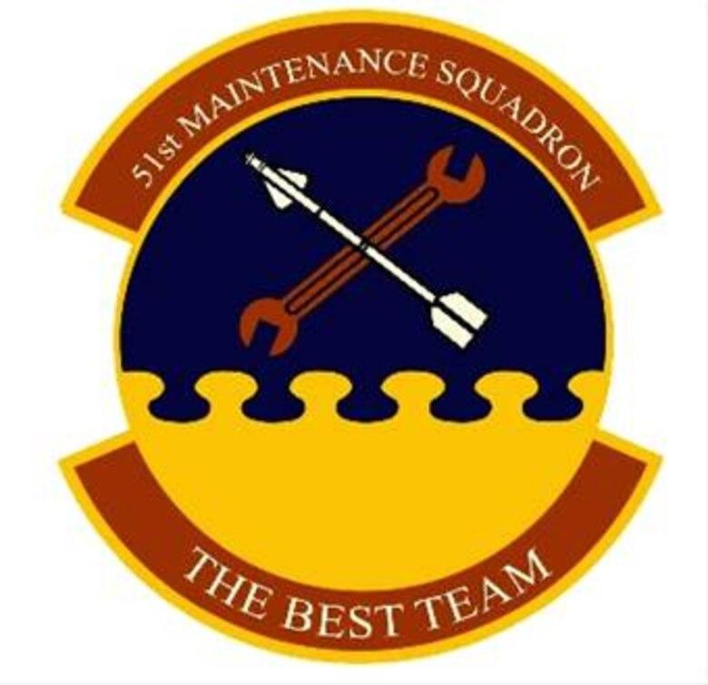 51st Maintenance Squadron heraldic emblem