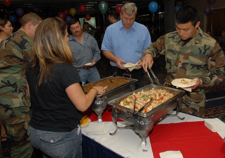 Attendees were treated to Mexican food provided by the Event Center during the Cinco de Mayo celebration May 4. (U.S. Air Force photo by Airman 1st Class Kamaile Chan).