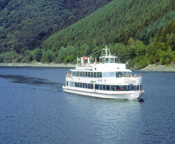 A passenger excursion boat cruises Germany's Ruhrsee. (Courtesy photo)