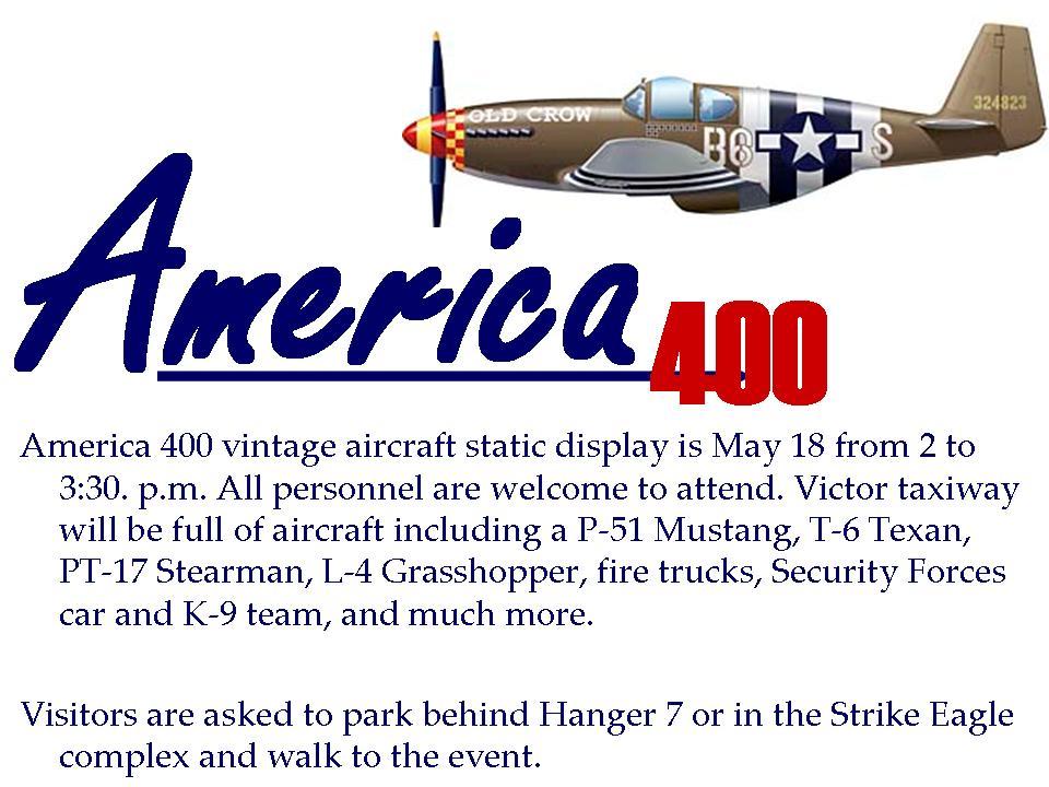 America 400: Calling all RAF Lakenheath and Mildenhall warriors