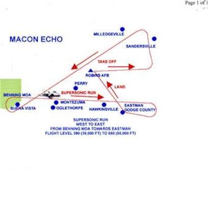 F-15 Test Flight Route