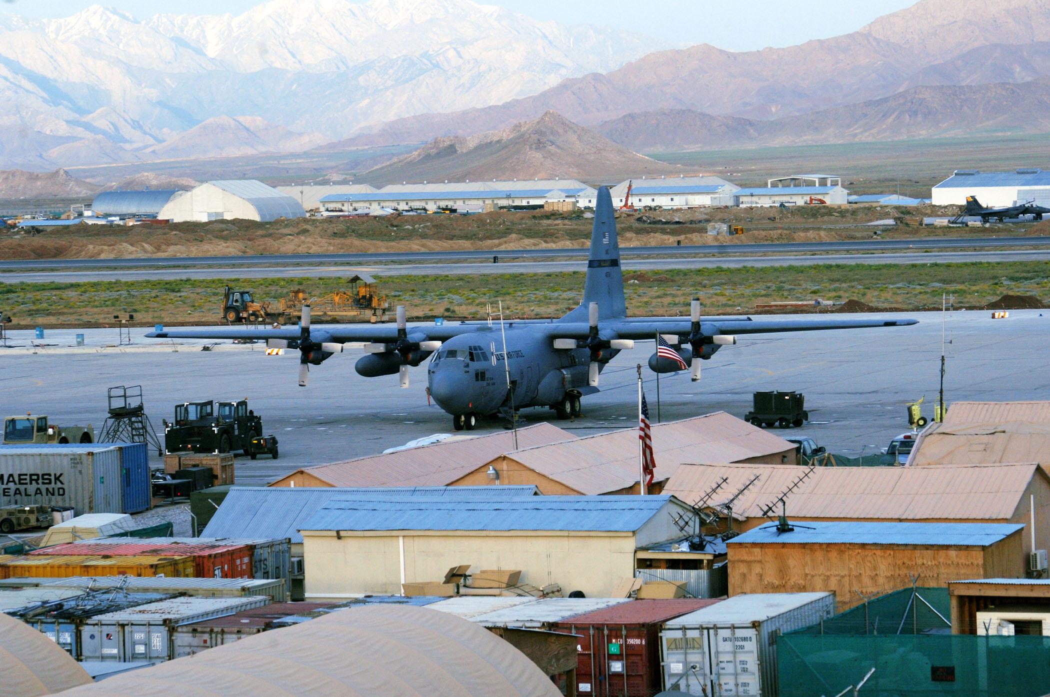 Bagram Airfield, Afghanistan after a rainstorm