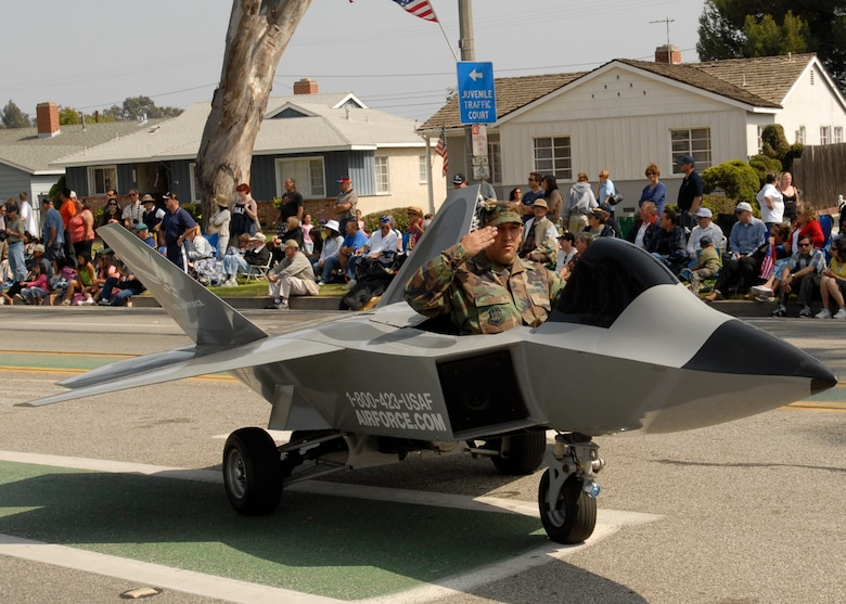 The 369th Recruiting Squadron's mini Rapror was featured in the 2007 Torrance Armed Forces Day Parade, May 19. Gen. Kevin Chilton, Air Force Space Command commander, served as the Grand Marshal for the parade. A Los Angeles AFB honor guard led the way as Los Angeles, Edwards, and Vandenberg Air Force Bases and March Air Reserve Base marched passed the crowds with a total of more than 300 airmen participating.
