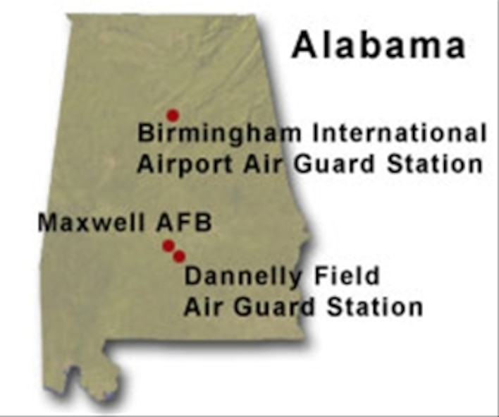 Alabama BRAC map.