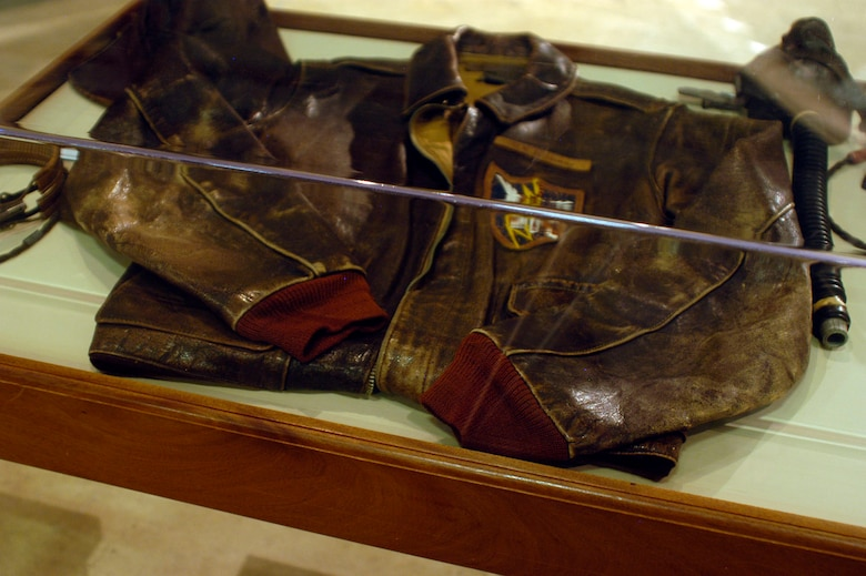 DAYTON, Ohio -- Memorabilia used by Gen. Bruce K. Holloway while he was serving as an observer for the Flying Tigers. He flew 12 combat missions with the Flying Tigers before it was disbanded on July 4, 1942, and the 23rd Fighter Group was activated. The donor then served with the 23rd. Items are on display in the World War II Gallery at the National Museum of the U.S. Air Force. (U.S. Air Force photo)