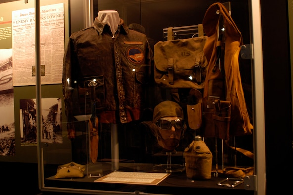 DAYTON, Ohio - Items worn or carried by Lt. Jack A. Sims during the Doolittle Tokyo Raid. These items are on display in the World War II Gallery at the National Museum of the U.S. Air Force. (U.S. Air Force photo)