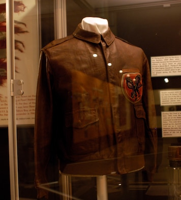 DAYTON, Ohio - A-2 flying jacket on display in the World War II Gallery at the National Museum of the U.S. Air Force. (U.S. Air Force photo)