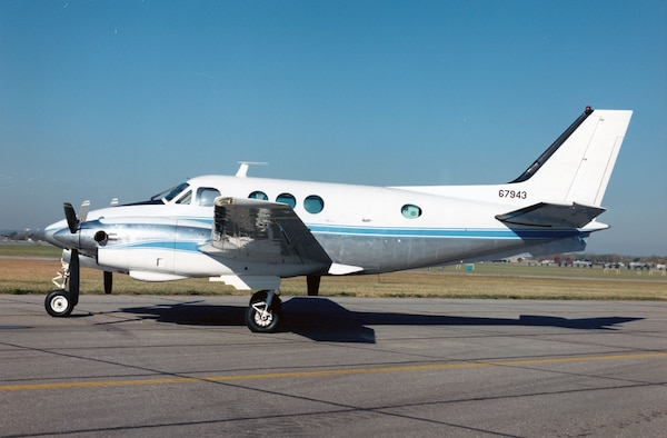 DAYTON, Ohio -- Beech VC-6A at the National Museum of the United States Air Force. (U.S. Air Force photo)