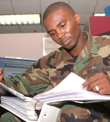 "Airman 1st Class Kwadwo ""Apong"" Agyen-Frempong  (U.S. Air Force photo by Kemberly Groue)"