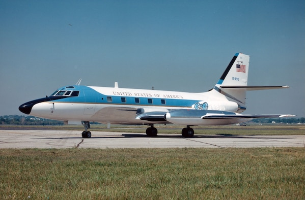 DAYTON, Ohio -- Lockheed VC-140B Jetstar at the National Museum of the United States Air Force. (U.S. Air Force photo)