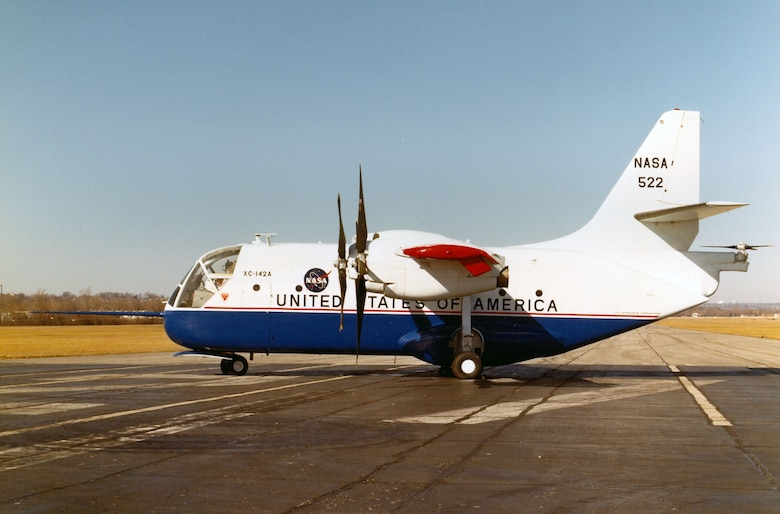 DAYTON, Ohio -- Chance-Vought/LTV XC-142A at the National Museum of the United States Air Force. (U.S. Air Force photo)
