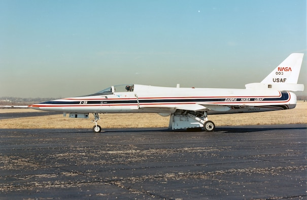 DAYTON, Ohio -- Grumman X-29A at the National Museum of the United States Air Force. (U.S. Air Force photo)