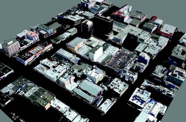A novel methodology for building three-dimensional (3-D) models of urban environments in a fast, scalable, and automated way.