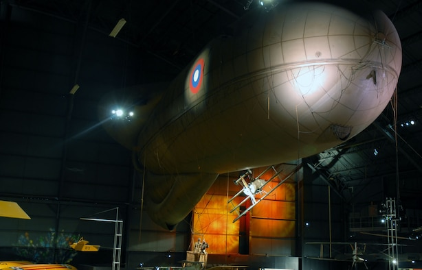 DAYTON, Ohio -- Caquot Type R Observation Balloon in the Early Years Gallery at the National Museum of the United States Air Force. (U.S. Air Force photo)