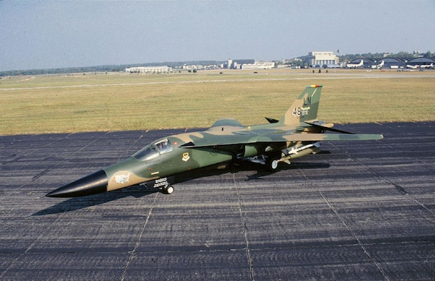 DAYTON, Ohio -- General Dynamics F-111F at the National Museum of the United States Air Force. (U.S. Air Force photo)