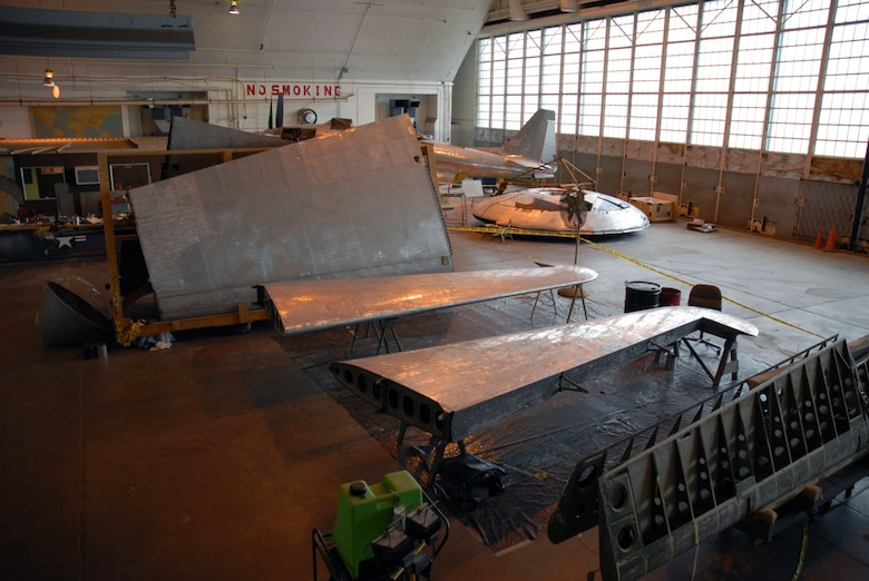 "DAYTON, Ohio (11/2007) -- The B-17F ""Memphis Belle"" undergoing restoration at the National Museum of the United States Air Force. (U.S. Air Force photo)"