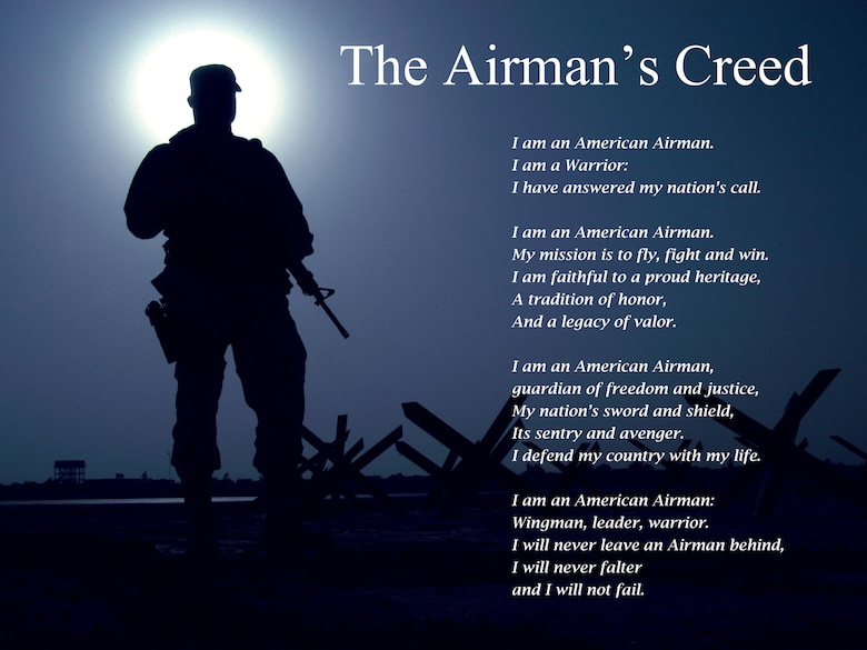 Airmans creed exemplifies warfighting ethos 315th airlift wing airmans creed exemplifies warfighting ethos thecheapjerseys Images