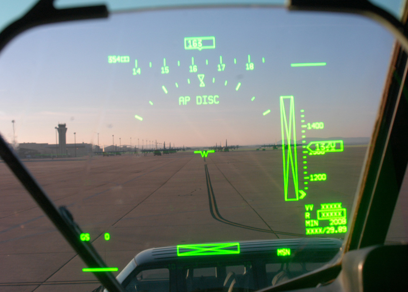 Military Plane hud technology