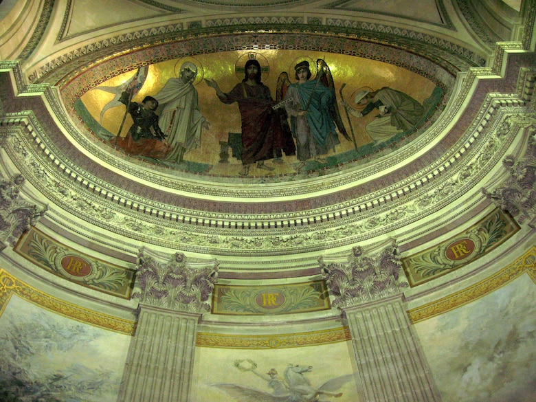 PARIS – The ceilings at the Panthéon depict the stories of numerous saints, angels and Biblical characters. The Panthéon was built by King Louis XV as a church dedicated to St. Genevieve. (U.S. Air Force photo/Staff Sgt. Tammie Moore)