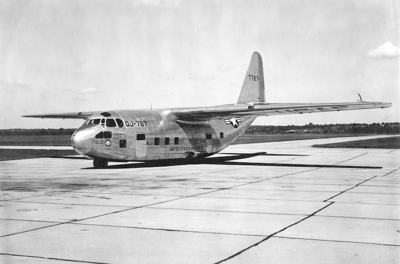 Chase XG-20 glider, from which the C-123 evolved. There was no provision for fuel in this glider, so the C-123's fuel tanks were located in the rear part of the engine nacelles. (U.S. Air Force photo)