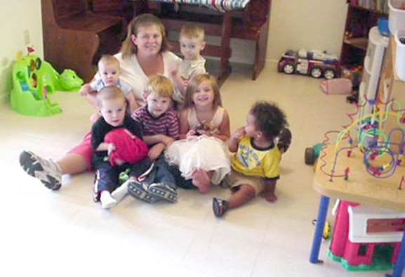 CANNON AIR FORCE BASE -- Angie Kosmicki is one of the Cannon's home daycare providers. Military members returning from extended deployments are eligible to receive up to 16 hours of free daycare. For more information, call 784-6560 or 784-7650 (Courtesy photo)