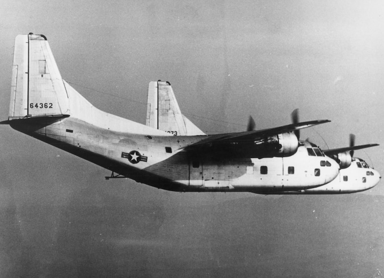 Patches early in the Ranch Hand program when it was still a C-123B. (U.S. Air Force photo)