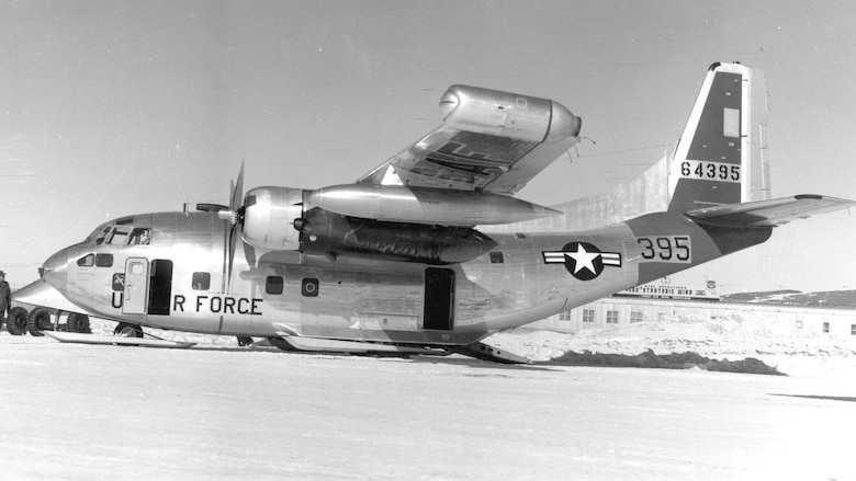 The ten C-123Js built had J44 jets mounted on their wingtips, and the type saw extensive use in the arctic. This C-123J is pictured at Thule Air Base, Greenland, in 1958. (U.S Air Force photo)