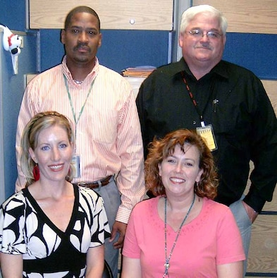 Heather Carter, left, Gina House, Jimmie Wilson, back left, and David Thomas are the group of functional users that identify and define requirements for the Purchase Request Process System. (Courtesy photo)