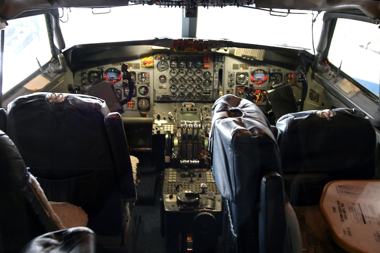 DAYTON, Ohio -- Boeing VC-137C SAM 26000 (Air Force One) cockpit at the National Museum of the United States Air Force. (Photo courtesy of Craig Scaling, Airshow Traveler)