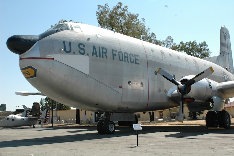 "The Douglas C-124C ""Globemaster II"" aircraft sits on the pavement at the Jimmy Doolittle Air and Space Museum at Travis. ""Old Shakey,"" as it was jokingly referred to, is one of the largest planes in the museum's collection. (U.S. Air Force photo/Nick DeCicco)"