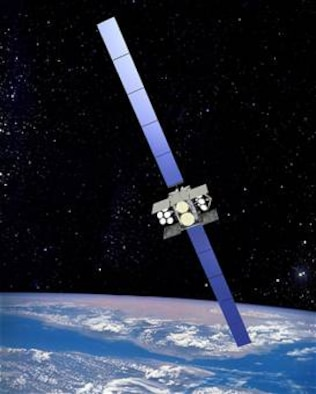The Wideband Global SATCOM satellite is the successor to the Defense Satellite Communications System-III. One WGS satellite has about 12 times the bandwidth of a DSCS-III satellite. (Courtesy image/Boeing)