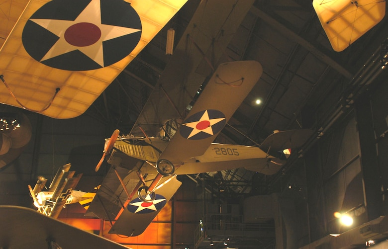 DAYTON, Ohio -- Curtiss JN-4D Jenny in the Early Years Gallery at the National Museum of the United States Air Force. (U.S. Air Force photo)