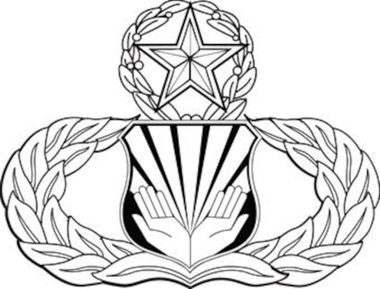 Chaplain's Assistant Badge-Master.  U.S. Air Force graphic. Image is 7x5.3 inches @ 300 ppi.